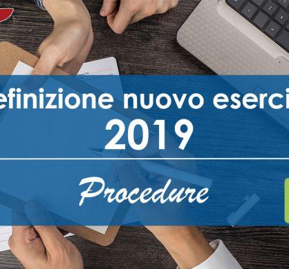 Definizione Nuovo Esercizio 2019