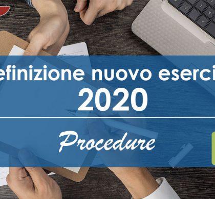 Definizione Nuovo Esercizio 2020